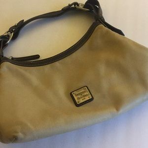 Downey  &  Bourke Tan and Brown Leather Hobo Bag